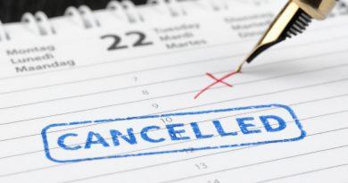 cancellazione di viaggi per il coronavirus